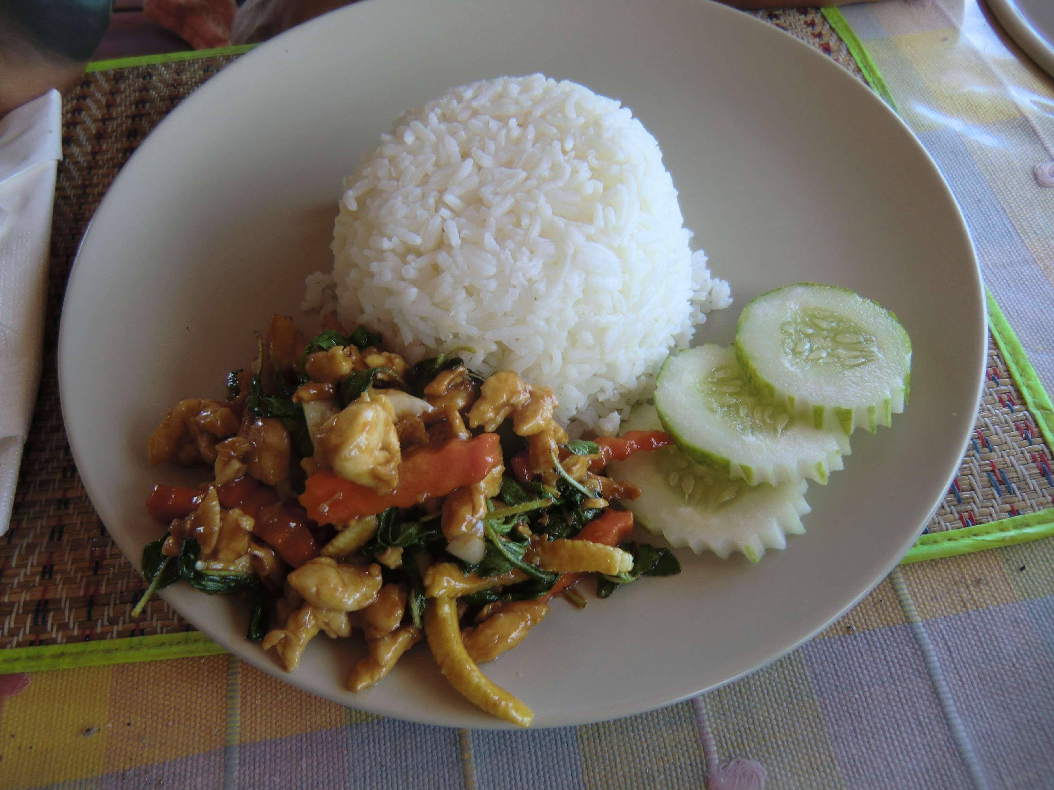 Fried Chicken mit Gemüse