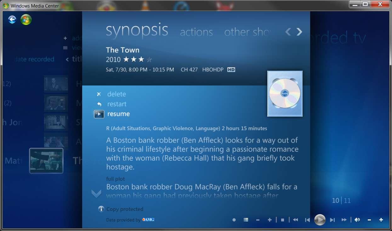 Wmc Resume Recorded Show Windows 7 Help Forums